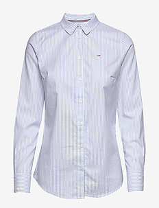 TJW SLIM FIT STRETCH - chemises à manches longues - white / moderate blue