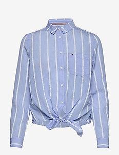 TJW FRONT KNOT SHIRT - langærmede skjorter - white / moderate blue
