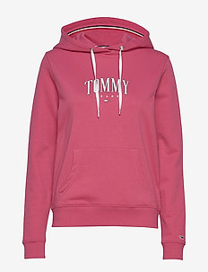TJW ESSENTIAL LOGO HOODIE - hoodies - blush red