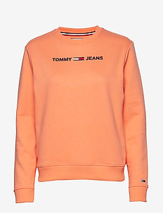 TJW ESSENTIAL LOGO S - sweatshirts - melon orange