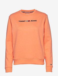 TJW ESSENTIAL LOGO S - sweaters - melon orange