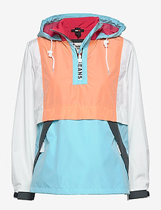 TJW COLORBLOCK POPOV - anoraki - fresh aqua / melon orange mult