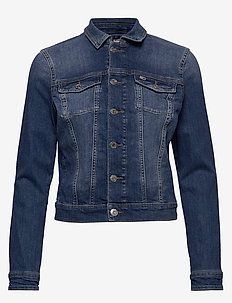 SLIM TRUCKER  JACKET ADY - denim jackets - audrey mid bl str