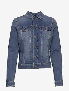 SLIM TRUCKER  JACKET - jeansjackor - victoria lt bl str