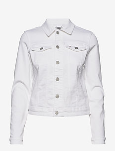 SLIM TRUCKER  JACKET - spijkerjassen - candle white str