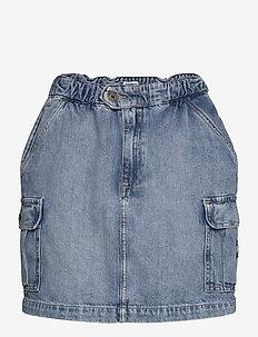 SHORT CARGO SKIRT CR - jeanskjolar - carol lt bl rig