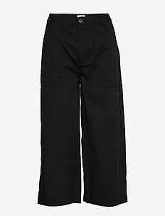 TJW HIGH RISE WIDE CROP - vide jeans - black