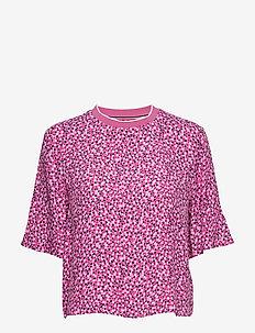 TJW PRINTED TOP - t-shirts - ditsy floral print / pink dais