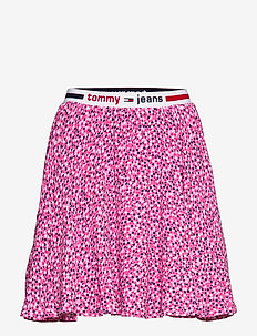 TJW PRINTED MINI SKIRT - DITSY FLORAL PRINT / PINK DAIS