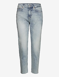 IZZY HR SLIM ANKLE CNLBCF - jeans droites - cony light blue comfort