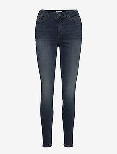 NORA MR SKNY DYNRDB - skinny jeans - dynm raven dark blue stretch