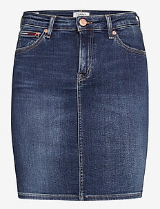 CLASSIC DENIM SKIRT KDBST - jupes courtes - knox dark blue stretch
