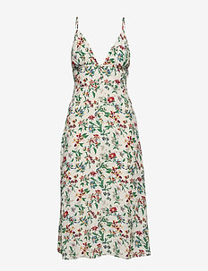 TJW SUMMER V-NECK STRAP DRESS - midi kjoler - hawaii print