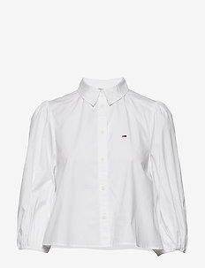 TJW PUFFY SLEEVE SHIRT - langærmede skjorter - white