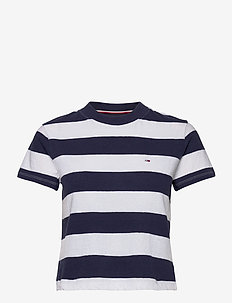 TJW BABY STRIPE TEE - t-shirty - twilight navy / white