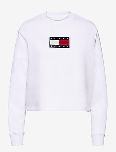 TJW TOMMY FLAG CREW - sweatshirts - white