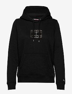 TJW ESSENTIAL LOGO HOODIE - hoodies - black