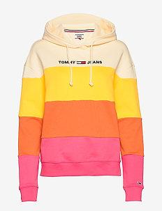 TJW COLORBLOCK HOODIE - pulls à capuche - glamour pink / multi