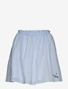 TJW SUMMER SEERSUCKER SKIRT - jupes courtes - white / moderate blue