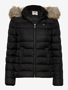 TJW BASIC HOODED DOWN JACKET - doudounes - black
