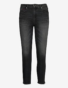 NORA MR SKNY ANK SLIT DYBW - jeans skinny - dynm bs wells black stretch