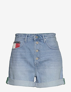 MOM JEAN SHORT BTN FLY  SVLB - jeansowe szorty - save pf light blue rigid