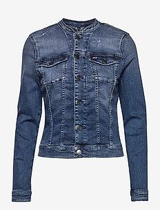 SKNY TRUCKER JCKT DYRMB - jeansjackor - dynm raven mid blue stretch