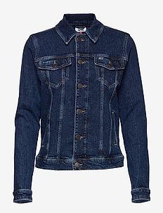 REGULAR TRUCKER JCKT CDDBCF - denim jackets - cody dark blue comfort