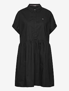 TJW SHORTSLEEVE SHIRT DRESS - skjortekjoler - black