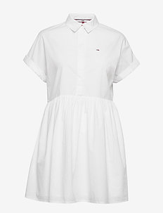 TJW SHORTSLEEVE SHIRT DRESS - skjortekjoler - white