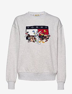 TJW LOONEY TUNES CRE - PALE GREY HTR