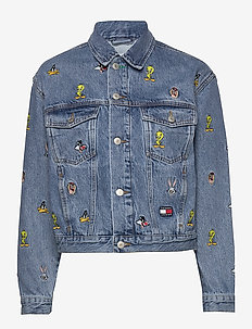 TJW LOONEY TUNES DEN - jeansjackor - light blue wash