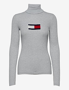 TJW TOMMY FLAG ROLL NECK - turtlenecks - silver grey htr