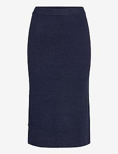 TJW SWEATER SKIRT - midi kjolar - twilight navy