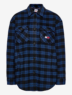 TJW FLANNEL OVERSHIRT - overshirts - providence blue / black check