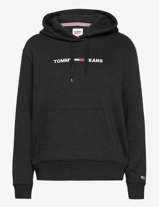 TJW LINEAR LOGO HOODIE - hoodies - black