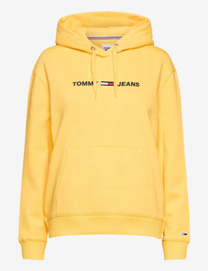 TJW LINEAR LOGO HOODIE - hoodies - star fruit yellow