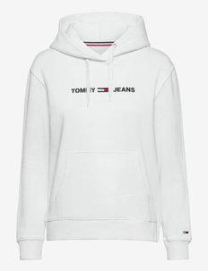 TJW LINEAR LOGO HOODIE - hoodies - white