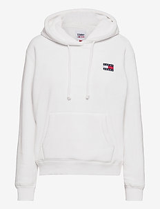 TJW BADGE POLAR FLEECE HOODIE - hettegensere - snow white