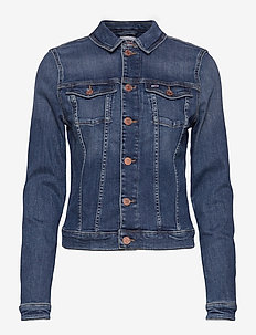 VIVIANNE SLIM DENIM TRCKR HLDBST - denimjakker - harlow dark blue str