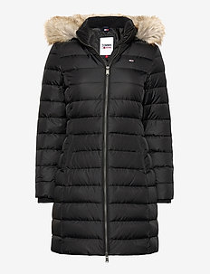 TJW ESSENTIAL HOODED DOWN COAT - gewatteerde jassen - black