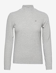 TJW RIB MOCK NECK LONGSLEEVE - long-sleeved tops - silver grey htr