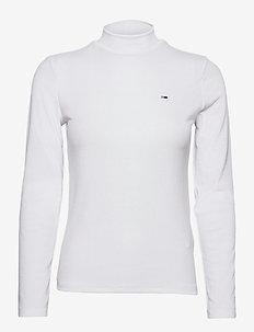 TJW RIB MOCK NECK LONGSLEEVE - long-sleeved tops - white