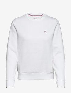 TJW REGULAR FLEECE C - sweatshirts - white