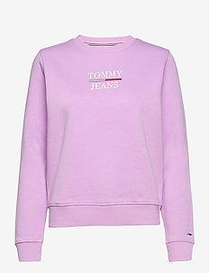 TJW SLIM LOGO CREW - sweatshirts & hoodies - fresh orchid