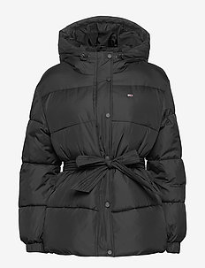 TJW BELTED PUFFER - down- & padded jackets - black