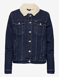 SHERPA TRUCKER JACKET OLDBCF - jeansjackor - oslo dark blue com