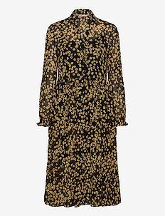 TJW PRINTED MIDI SHIRT DRESS - midi dresses - floral print