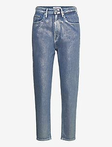 MOM JEAN HR TPRD MTLC - mom-jeans - metallic com