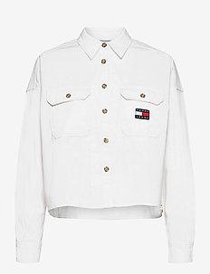TJW CROPPED UTILITY SHIRT - kläder - white